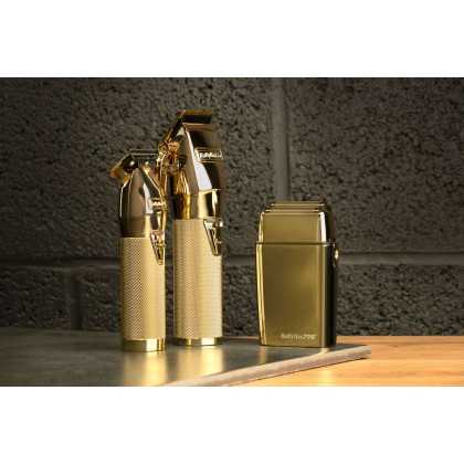 Комплект Златна колекция Babylisspro Skeleon trimmer  -Ferrari clipper -  Foil Shaver - цвят GOLD